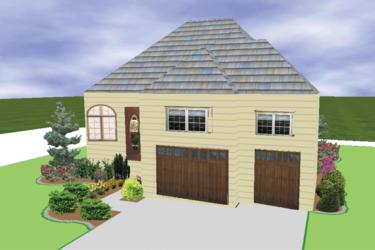 Pro Landscape 3d rendering house