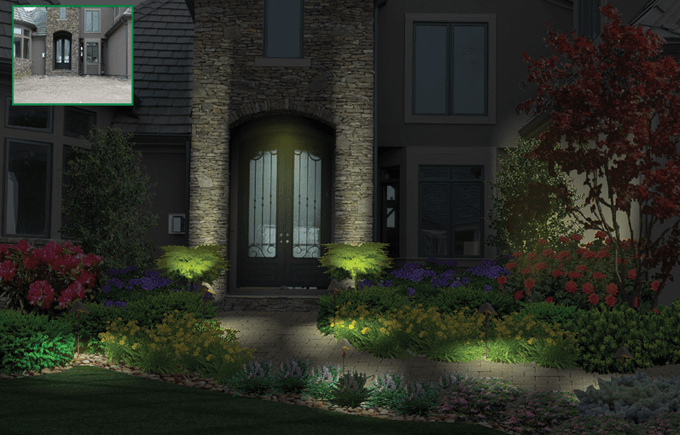 path lighting example of pro landscape